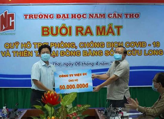 Đồng hành ra mắt Quỹ phòng, chống dịch COVID-19 và Thiên tai tại ĐBSCL.