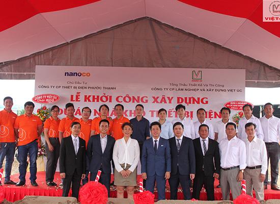 Lễ khởi công dự án nhà kho thiết bị điện Nanoco tại Cần Thơ