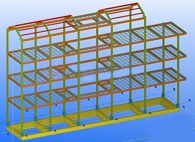 Mô hình nhà thép tiền chế cao tầng