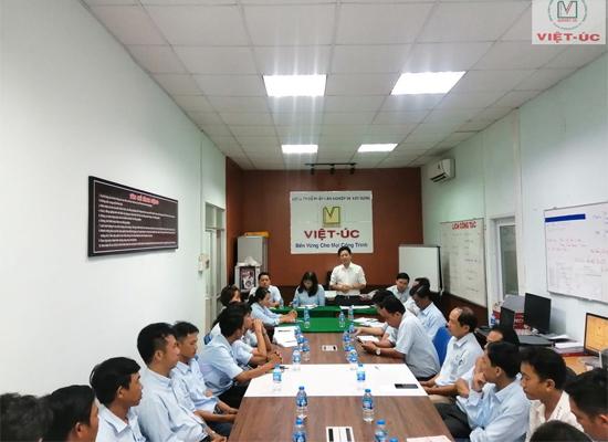 Việt Úc tổ chức buổi họp tổng kết 08 tháng đầu năm và kế hoạch sản xuất 04 tháng cuối năm 2020